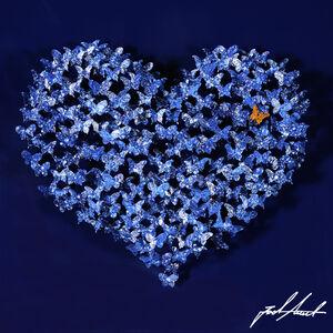 Heart Mini - Blue Butterflies on Blue