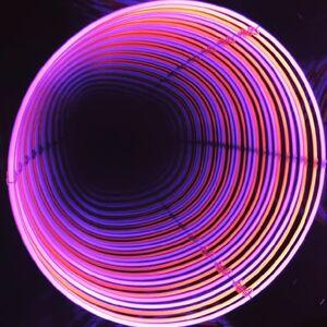 Néon Infinity Circle : rose / orange