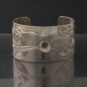 Hummingbirds with Sitka Rose Cuff Bracelet