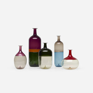 Collection of five vases