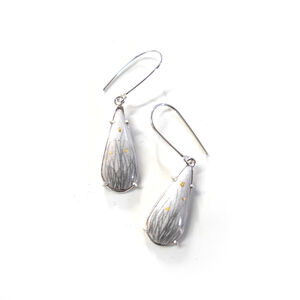 Elongated Drop Dangle Earrings - Grass