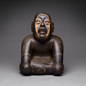 Olmec Stone Seated Figure