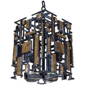 Huge bronze lantern designed by Regis ROYANT