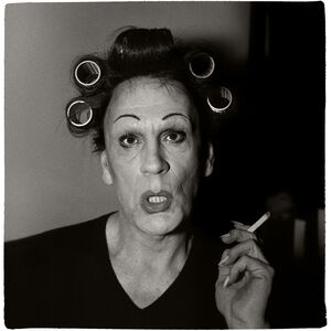 Diane Arbus / A Young Man in Curlers at Home on West 20th Street, N.Y.C. (1966)