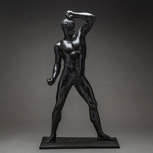 Bronze Sculpture Of An Athlete