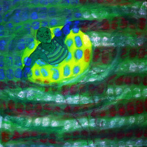 American Prayer Flags: Circles in the Square, Green