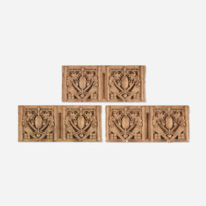 set of three architectural elements from the Thomas A. Edison School, Hammond, IN