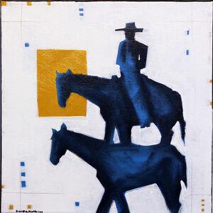 Blue Roan Horseman