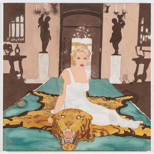 Daphne Cameron on Tiger Skin Rug