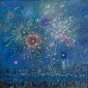 July Fourth Fireworks, Seen from Brooklyn