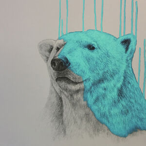 Hey There, Polar Bear (Aqua)
