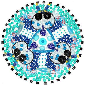 Jelly Blue Bazooka Pop Candela