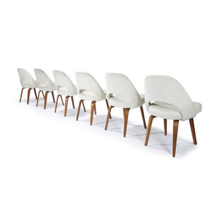 Set of Six Executive Chairs,  Model 61, Knoll Associates, USA