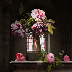 The Costume of Painter - Still Life with peonies 3D