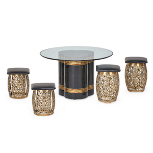 Center Table And Four Stools, USA