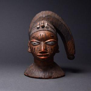 Yoruba Wooden Polychrome Egungun Headdress Mask
