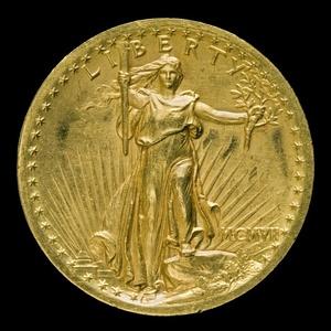 """Double Eagle"" Twenty Dollar Gold Piece [obverse]"