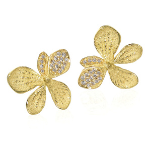 Pave Diamond Hydrangea Earrings