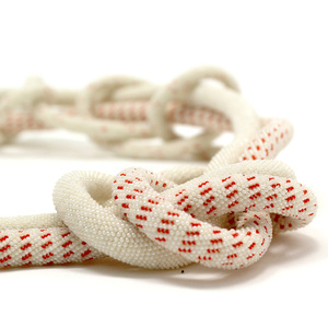 Red and White Three Strand Rope Neckpiece