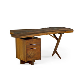 Free Edge Walnut Desk