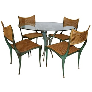 """Satyr' Table & 4 ""Gazelle"" Chairs"