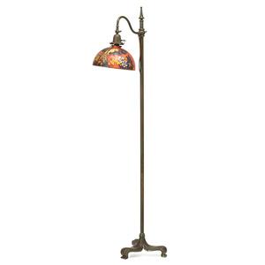 Adjustable Floor Lamp With Pheasant Shade, Meriden, CT