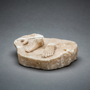 Marble Carving of a Pair of Feet