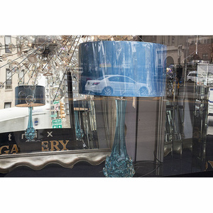 Blue Lampshade with White Car, Bowery Window