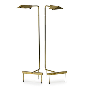 Pair of adjustable floor lamps, Switzerland
