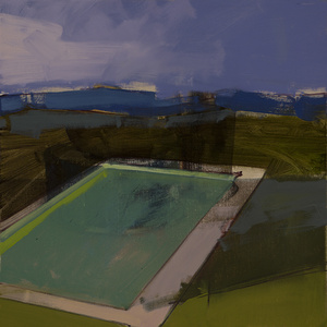 Pool in the Foothills, Night