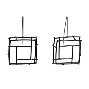 Black Square Structure, Earrings
