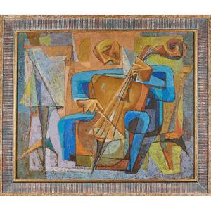 Untitled Painting (Bassist) (Framed), Philadelphia, PA