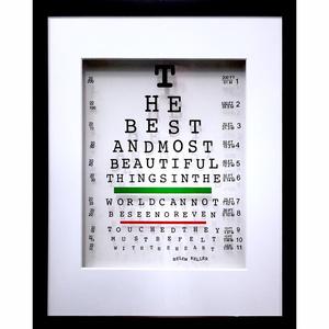 Helen Keller Eye Quote