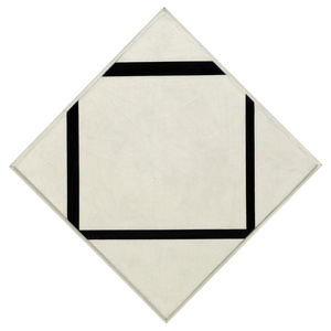 Composition No. 1: Lozenge with Four Lines,