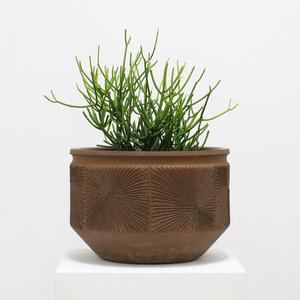 'Sunburst' Design Ceramic Planter