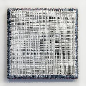 White Grid Over Blue