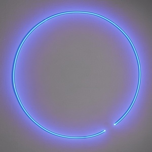 Untitled (Blue Neon Circle)