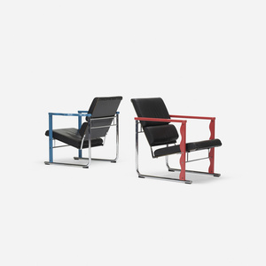 Experiment lounge chairs, pair