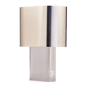 Oval Lucite Table Lamp, USA