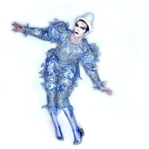 "Pierrot (or ""Blue Clown"") costume. Designed by Natasha Korniloff for the ""Ashes to Ashes"" video and Scary Monsters (and Super Creeps) album cover"