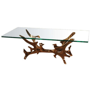 bronze sculpture cocktail table