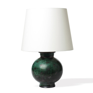 """Argenta"" table lamp with inlaid silver floating motifs"