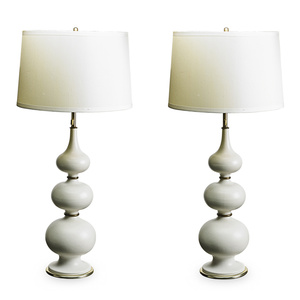 Pair Of Table Lamps, USA