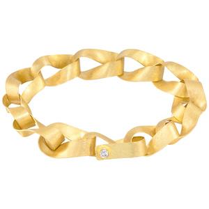 Handmade Gold Link Bracelet
