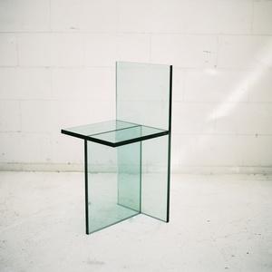Geometric Glass Chair
