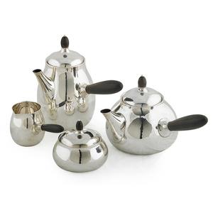 Four-Piece Assembled Tea And Coffee Set, Teapot (80C), Coffee Pot (80C), Creamer (80B), And Lidded Sugar (80B), Denmark