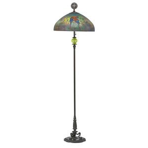Fine scarlet macaw floor lamp, Meriden, CT