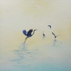 Blue Herons in the Morning Light