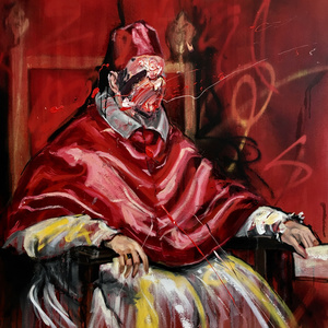 After Velasquez, Portrait Of Pope Innocent
