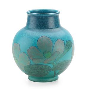 Double Vellum Vase With Stylized Roses (Uncrazed), Cincinnati, OH